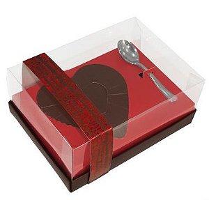 Caixa Ovo de Colher Coração de 500g - Classic Vermelho Cód 1404 - 05 unidades - Ideia Embalagens Rizzo Confeitaria