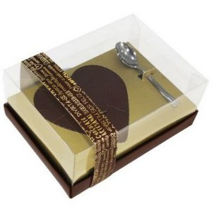 Caixa Ovo de Colher Coração de 500g - Classic Ouro Cód 0656 - 05 unidades - Ideia Embalagens Pascoa Rizzo Confeitaria