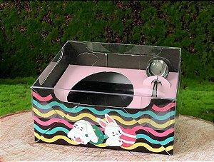 Caixa Ovo de Colher de 100g - Encanto Rosa Bebê Kids Cód 1496 - 10 unidades - Ideia Embalagens Pascoa Rizzo Confeitaria