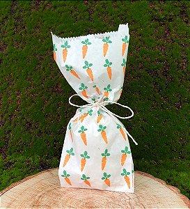 Saquinho de Papel Cenourinhas 10 un - Decora Doces  Rizzo Confeitaria