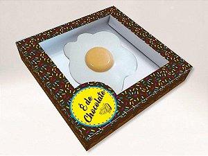 Caixa Ovo Frito É de Chocolate Cod 1374 - 3 Unidades  Erika Melkot - Rizzo Confeitaria