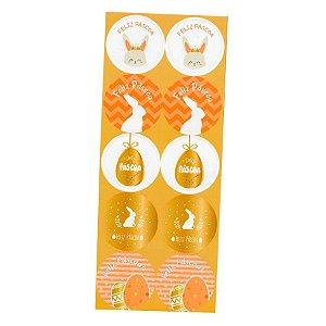 Adesivo Páscoa Dourado com 30 un. Duster Festas Rizzo Confeitaria