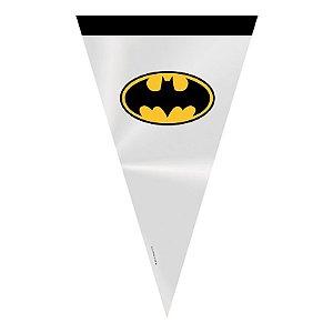 Cone Festa Batman 18x30cm - 50 unidades - Cromus - Rizzo Confeitaria