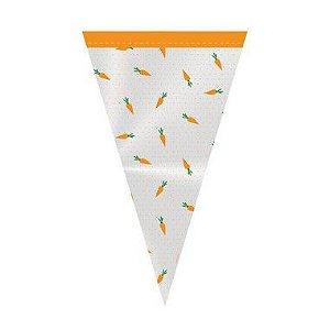 Cone Festa Hora da Cenoura 18x30cm - 50 unidades - Cromus Páscoa - Rizzo Confeitaria