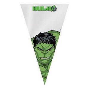 Cone Festa Hulk 18x30cm - 50 unidades - Cromus - Rizzo Confeitaria