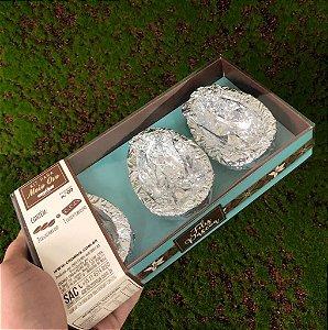 Kit Caixa Azul com 3 Casquinhas Chocolate 60g ao Leite Sicao - APENAS RETIRADA PESSOALMENTE - 1 unidade - Cromus Sicao Rizzo Confeitaria