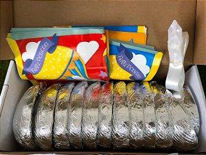 Kit 6 Ovos de Páscoa 150g com Express e Laço Pronto - APENAS RETIRADA PESSOALMENTE - Cromus Sicao Rizzo Confeitaria