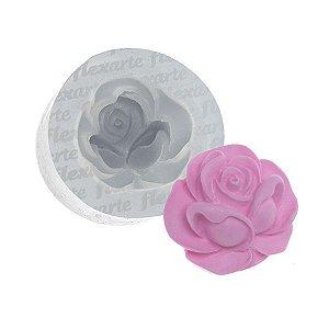 Molde de Silicone Rosa Média Oktyabrina Ref. 425 Flexarte Rizzo Confeitaria