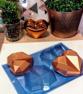 Forma Especial Coração Diamond 200g - Cod: 01 Porto Formas Rizzo Confeitaria