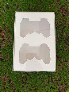 Caixa Joystick 2 cav 19,5x13x4cm Branca com 5 un - Rizzo Confeitaria