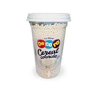 Copo de Cereal Colorido Branco 160g - Cacau Foods - Rizzo Confeitaria
