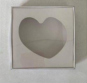 Caixa Coração Frito Branca 12x12x2 c/ 10 und Rizzo Confeitaria