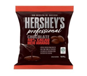 Chocolate 40% Cacau Meio Amargo 1,01kg - Hershey's Professional Rizzo Confeitaria