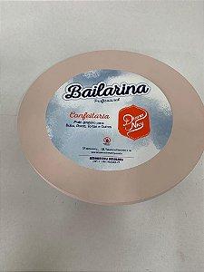 Bailarina - Prato Giratório Rosa Seco 30 cm - Diana Nicy Rizzo Confeitaria