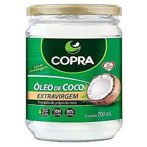 Óleo de Côco Extra Virgem - 200ml - 01 unidade - Copra - Rizzo Confeitaria