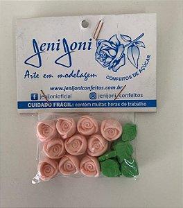 Confeitos comestíveis Rosas GG Jeni Joni Rizzo Confeitaria