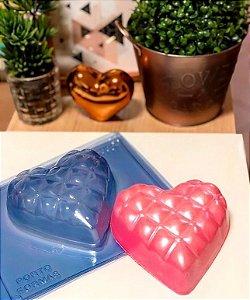 Forma de Acetato Coração Almofadinha 500g Porto Formas Ref 02 Rizzo Confeitaria