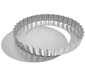 Forma Torta de Maçã Fundo Falso 25x3cm Ref 0954  01 unidade - Macedo - Rizzo Confeitaria