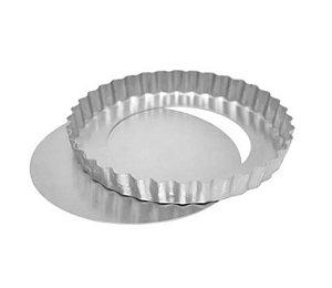 Forma Torta de Maçã Fundo Falso 17x3cm Ref 0952  01 unidade - Macedo - Rizzo Confeitaria