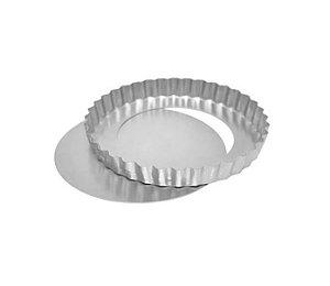 Forma Torta de Maçã Fundo Falso 13x3cm Ref 0932 01 unidade - Macedo - Rizzo Confeitaria