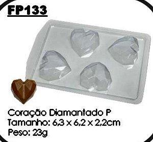 Forma Prática  Coração Diamantado Mod. FP 133 Crystal Rizzo Confeitaria