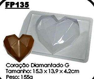 Forma Prática  Coração Diamantado 500gr Mod. FP 135  Crystal Rizzo Confeitaria