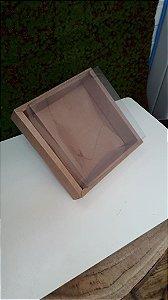 Caixa de PVC N13 Kraft 17x17x7,8 - 5 un - Assk Rizzo Confeitaria