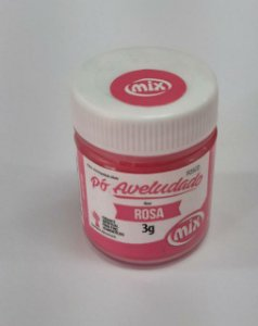 Pó aveludado Rosa 3g Mix Rizzo Confeitaria