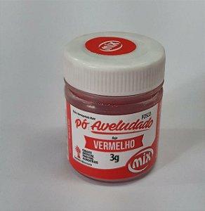 Pó aveludado Vermelho 3g Mix Rizzo Confeitaria