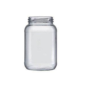 Pote de Vidro Conserva 600ml - 01 unidade - 13,5x7,5cm - Rizzo Confeitaria