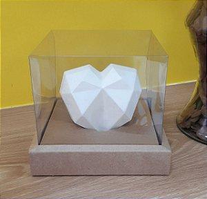 Caixa de Coração em pé 250gr 15x15x13 Kraft - 05 un - Assk Rizzo Confeitaria