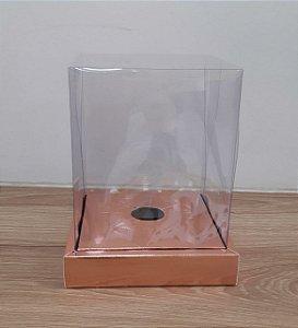 Caixa em Pé  de 250g a 350g -Rose  - 15 x 15 x 18,85 cm - 5 un - Assk Rizzo Confeitaria