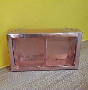 Caixa  2 pão de mel Rose  6,2x12,8x4  5 un - Assk Rizzo Confeitaria