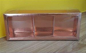 Caixa  3 pão de mel Rose  6,2x19x4  5 un - Assk Rizzo Confeitaria