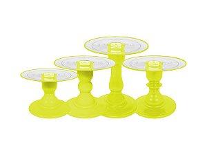 Boleira Mosaico - Clean - Neon Amarelo - Tamanhos  P, M, G e GG - 01 Unidade - Só Boleiras - Rizzo Confeitaria