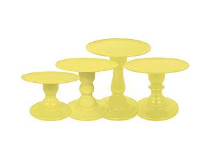 Boleira Mosaico - Liso - Amarelo - Tamanhos  P, M, G e GG - 01 Unidade - Só Boleiras - Rizzo Confeitaria