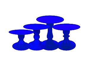 Boleira Mosaico - Liso - Azul Bic - Tamanhos  P, M, G e GG - 01 Unidade - Só Boleiras - Rizzo Confeitaria