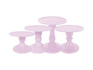 Boleira Mosaico - Liso - Rosa Claro - Tamanhos  P, M, G e GG - 01 Unidade - Só Boleiras - Rizzo Confeitaria