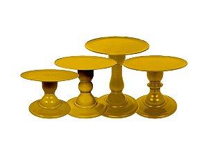 Boleira Mosaico - Premiun - Dourado - Tamanhos  P, M, G e GG - 01 Unidade - Só Boleiras - Rizzo Confeitaria