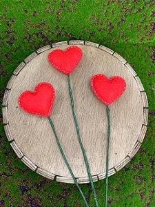 Coração Vermelho em Feltro Rizzo Confeitaria