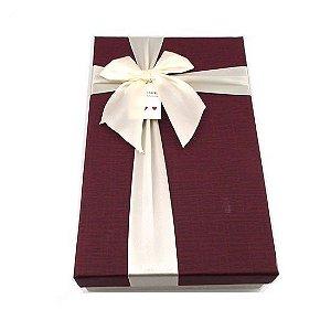 Caixa de Papel para Presente Tampa Vinho - 21 cm x 29 x 6 cm - 1 Unidade - Rizzo Confeitaria