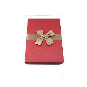 Caixa de Papel para Presente Vermelho - 29 cm x 20 x 6 cm - 1 Unidade - Rizzo Confeitaria