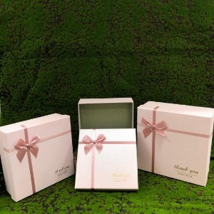 Conjunto Caixa de Papel para Presente Rosa - Kit 3 Unidades - Rizzo Confeitaria