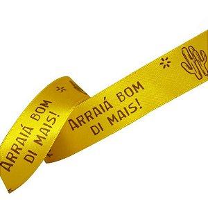 Fita de Cetim Amarelo Arraiá Bom Di Mais - 22mm - 10 metros - Progresso -  Rizzo Confeitaria