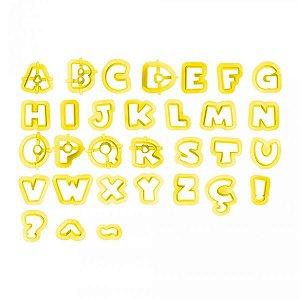 Cortador Letras Minúsculas II - 2cm- 38 Peças - Blue Star - Rizzo Confeitaria