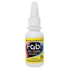 Corante Profissional Neo Color - Amarelo - 25g - FAB - Rizzo Confeitaria