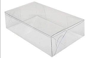 Caixa de Acetato Transparente Ref.28 - 14 x 8,5 x 3,5 cm - 20 Unidades - Rizzo Confeitaria