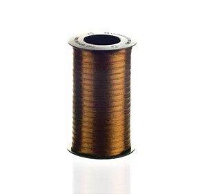 Fita de Cetim Carretel Progresso 4mm nº00 - 100m Cor 043 Marrom Dourado - 01 unidade - Rizzo Embalagens