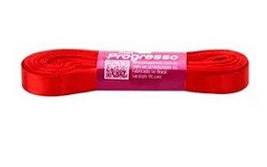 Fita de Cetim Progresso 10mm nº2 - 10m Cor 1354 Vermelho Tomate - 01 unidade