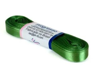 Fita de Cetim Progresso 10mm nº2 - 10m Cor 249 Verde Militar - 01 unidade - Rizzo Embalagens